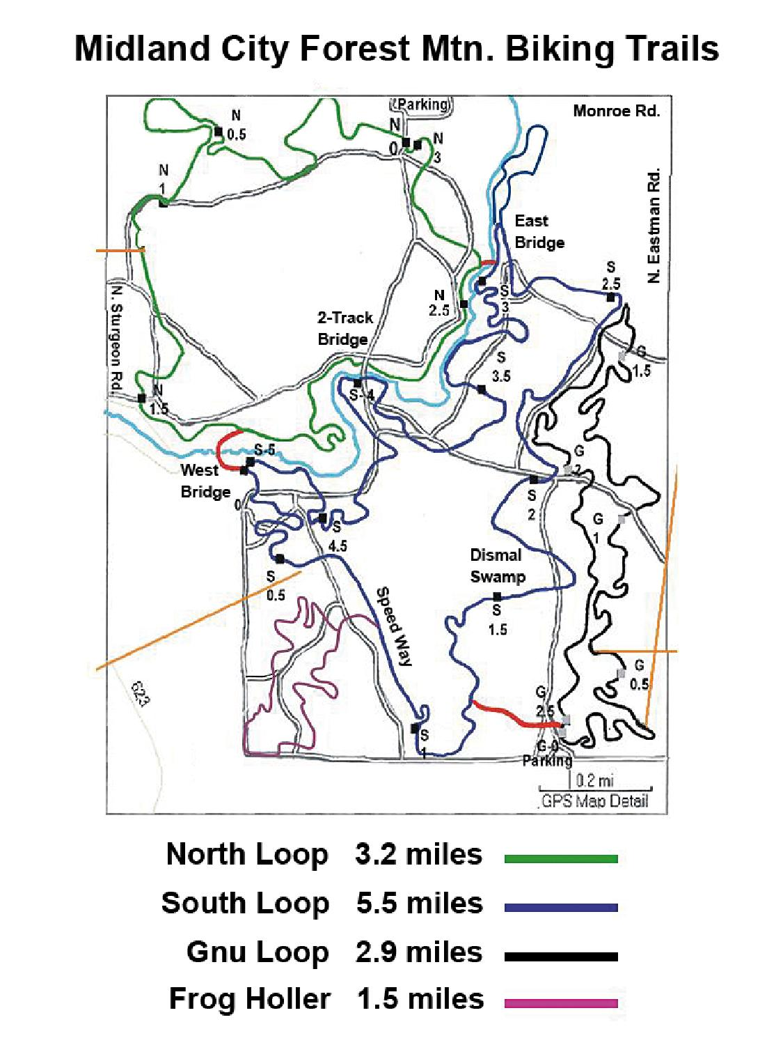 Mountain Biking Trails Map