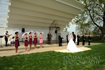 Image of an outside wedding