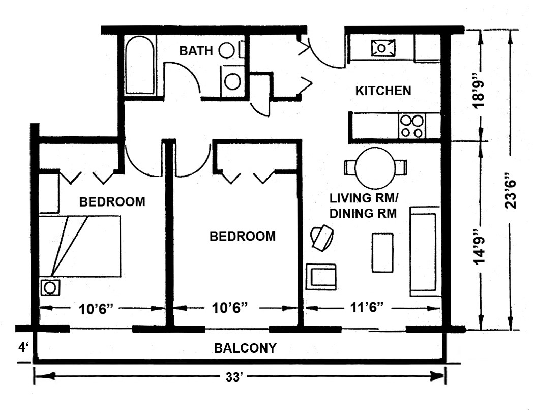 Apartment layouts midland mi official website for Bedroom layout