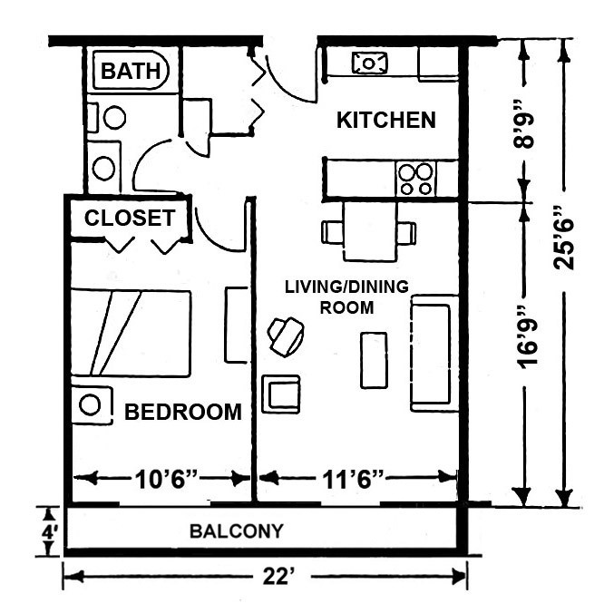 West Wing Large 1 Bedroom