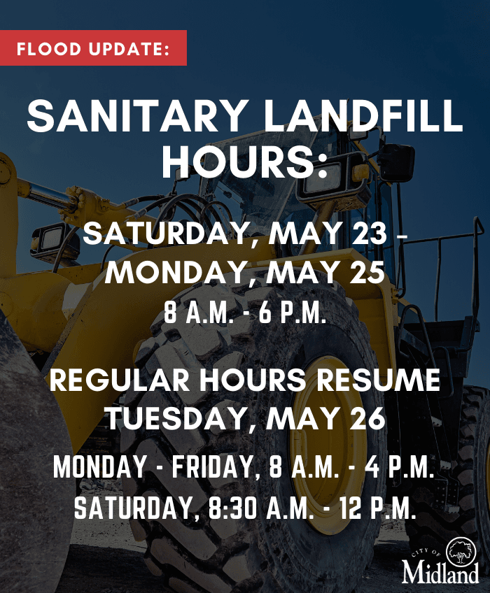 Updated Landfill hours for Flood Collection