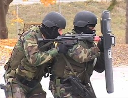 Police Officers in tactical gear