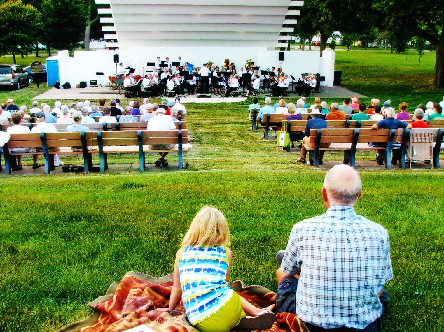 Fun For All Ages at the Chemical City Band Concert - 2014
