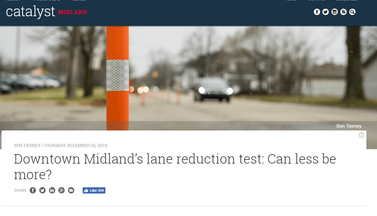 A screenshot of an article by Catalyst Midland Opens in new window