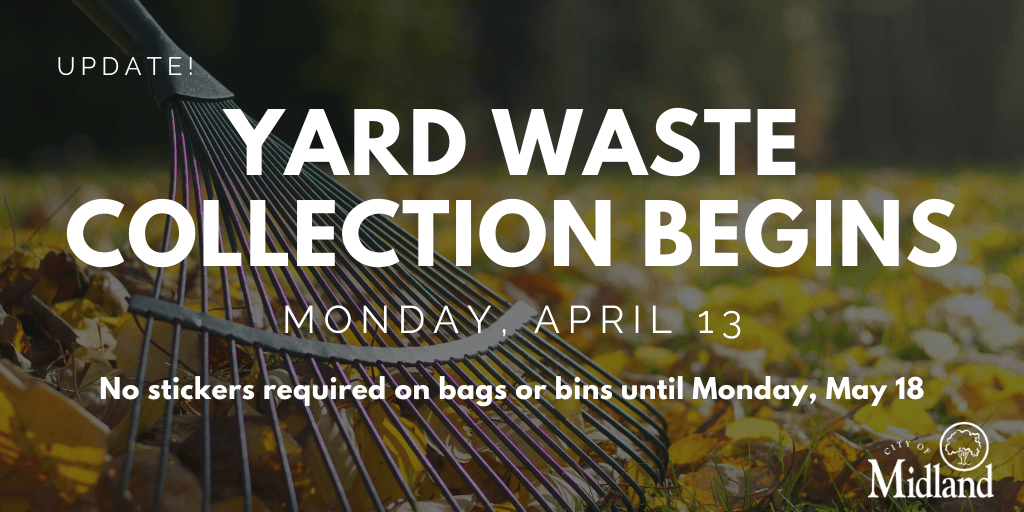 Yard waste collection will begin Monday, April 13