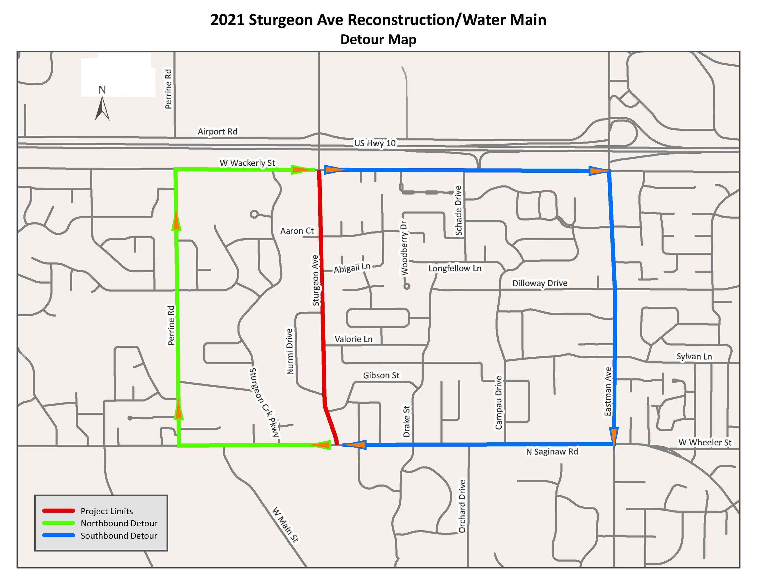 2021 Sturgeon Ave Detour