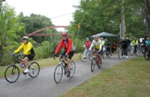 Bike Route Ribbon Cutting